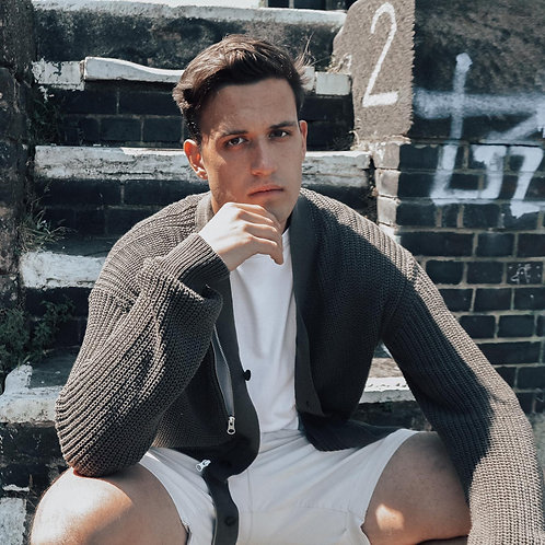 MCQ Alexander McQueen Khaki Knit Cardigan - Size M