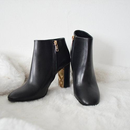 Burberry Gold Inner Heel Booties - Size 36
