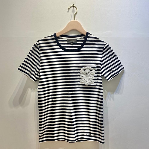 Burberry Striped Cotton T Shirt Size XS