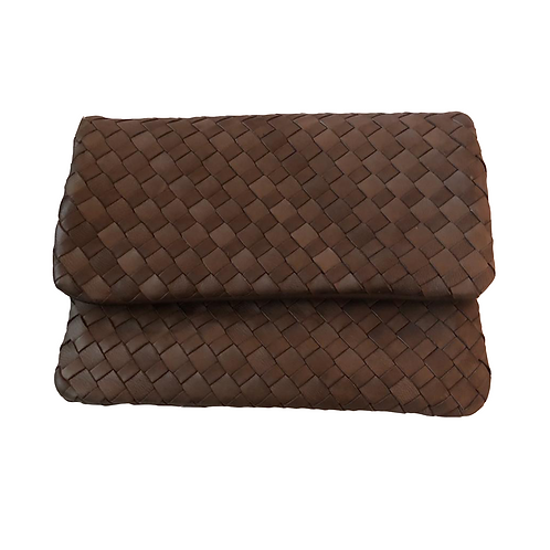 GERONICO Plaited Leather Pouch