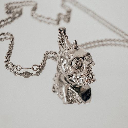 Alexander McQueen Silver Toned Skull Necklace