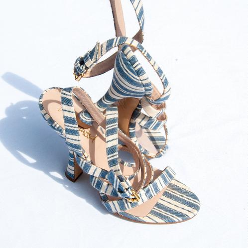 Vivienne Westwood Canvas Stripe Sandals - Size 36