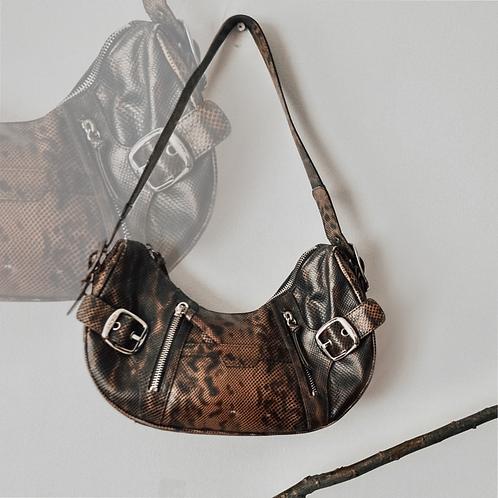 DKNY Snake Print Leather bag