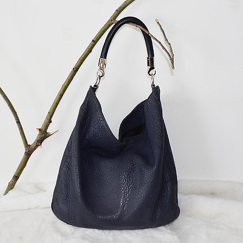 Yves Saint Laurent Navy Leather Bag