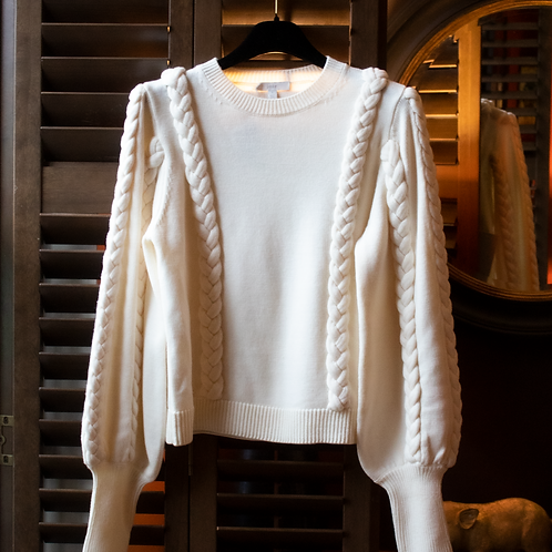 Joie Braid Knit Jumper/ Size Small