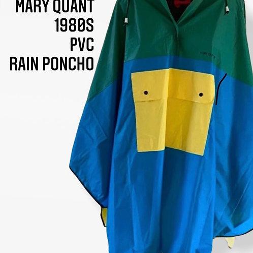 Mary Quant 1980s PVC Rain Poncho