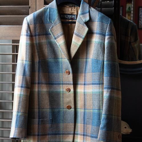Hauber Check Jacket / Size 18 UK