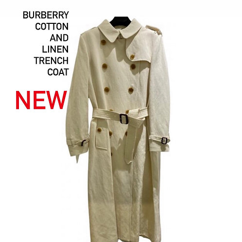 Burberry Cotton and Linen Trenchcoat Size 14