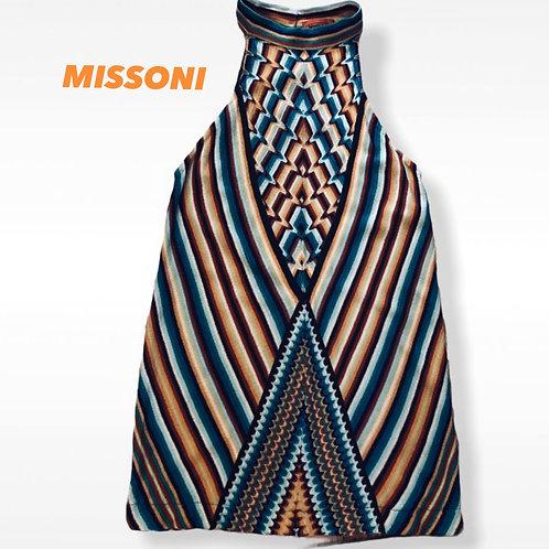 Missoni Halter  Neck  Knit Top Size IT 42