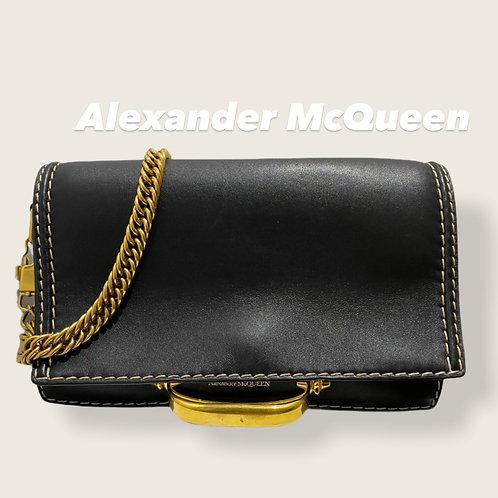 Alexander McQueen Black Story Shoulder Bag