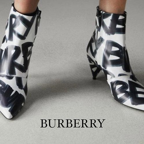 Burberry Graffiti Print Booties - Size 36