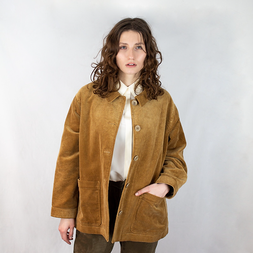 You Must Create London Fanny Corduroy Work Jacket Size XS -M