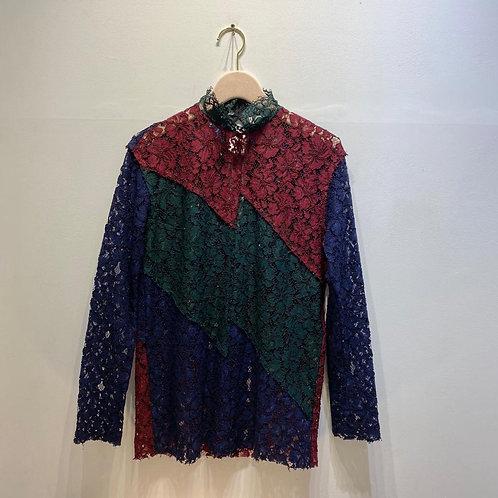 Sandro Multicolour Lace Blouse Size 1