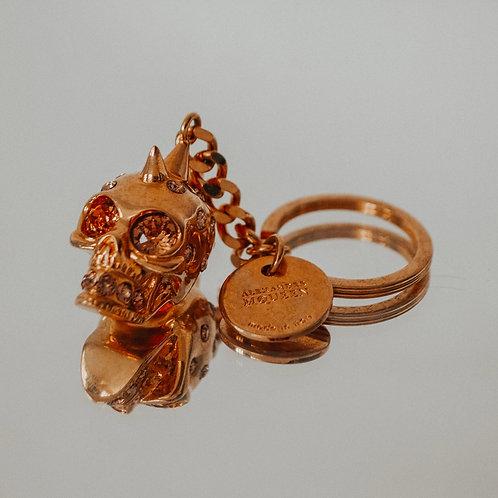 Alexander McQueen Rose Gold Toned Skull Keyring