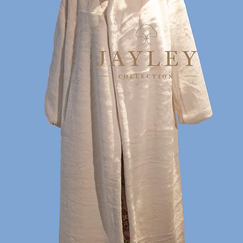 Jayley Long Cream Faux Fur Coat / Oversized M/L