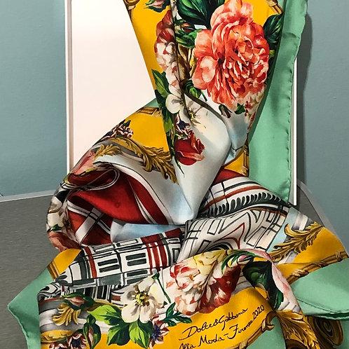New Dolce & Gabbana Silk Scarf in Box