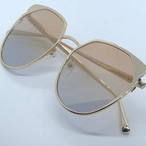 Longchamp Gold Metal Framed Sunglasses