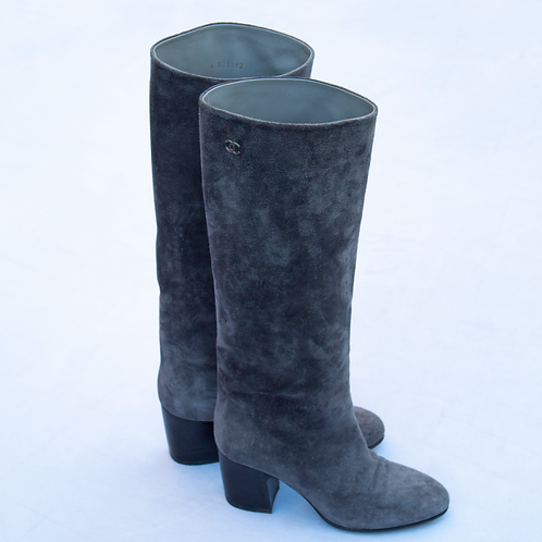 Chanel Suede Boots / Size 35.5