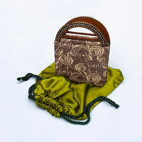 Meera Mahadevia Gold Brocade Bag