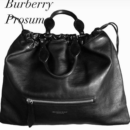 Burberry Prorsum Black Nappa Leather Bag