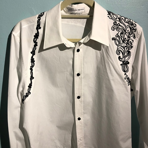 MCQUEEN EMBROIDERED HARNESS SHIRT SIze Medium