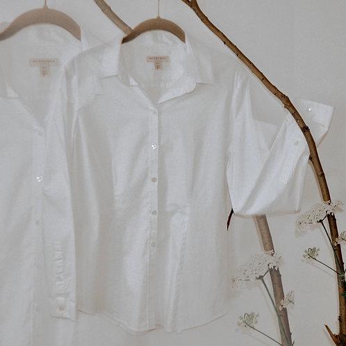 Burberry White Cotton Shirt - Size S