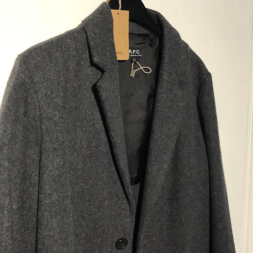APC Ladies Grey Wool Coat Size FR 42-UK 12