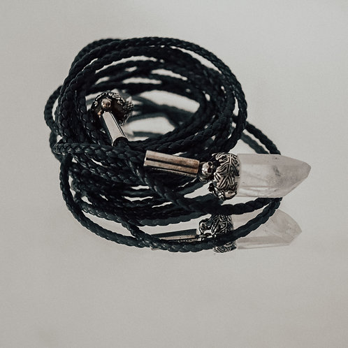 Alexander McQueen Crystal and Leather Necklace