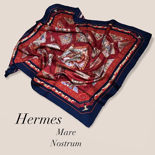 New Hermes Mare Nostrum Silk Scarf