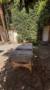 Massage dans votre jardin