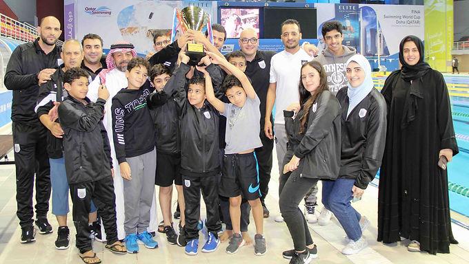 السد يفوز ببطولة كأس الاتحاد القطري للسباحة