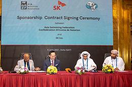 الاتحاد الآسيوي والأفريقي للسباحة يوقعان عقد رعاية مع شركة SK Inc  الكورية