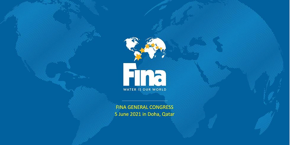 الجمعية العمومية للاتحاد الدولي للسباحة الدوحة 5 يونيو 2021 -  FINA GENERAL CONGRESS 5 June 2021 DOHA , QATAR