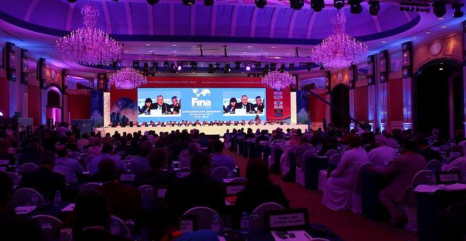 استضافة الدوحة لإجتماعات الجمعية العمومية للاتحاد الدوْلي للسِباحة