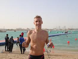 Olivier, Cunha seal thrilling victories at FINA/CNSG Marathon Swim World Series 2021 Doha (QAT)
