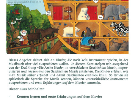 """Improvisationskurs «Die Arche Noah"""" und Einführung ins Klavierspiel"""