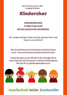 Flyer Kinderchor FS 21