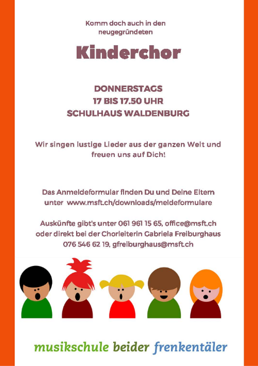 Flyer Kinderchor FS 21