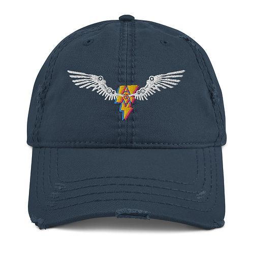 Ground Control Distressed Dad Hat