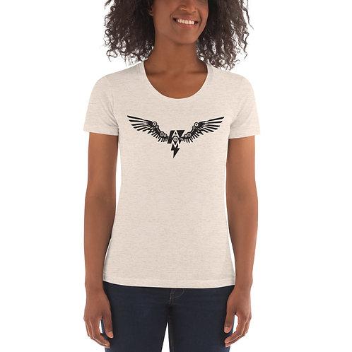 Women's White Crew Neck T-shirt