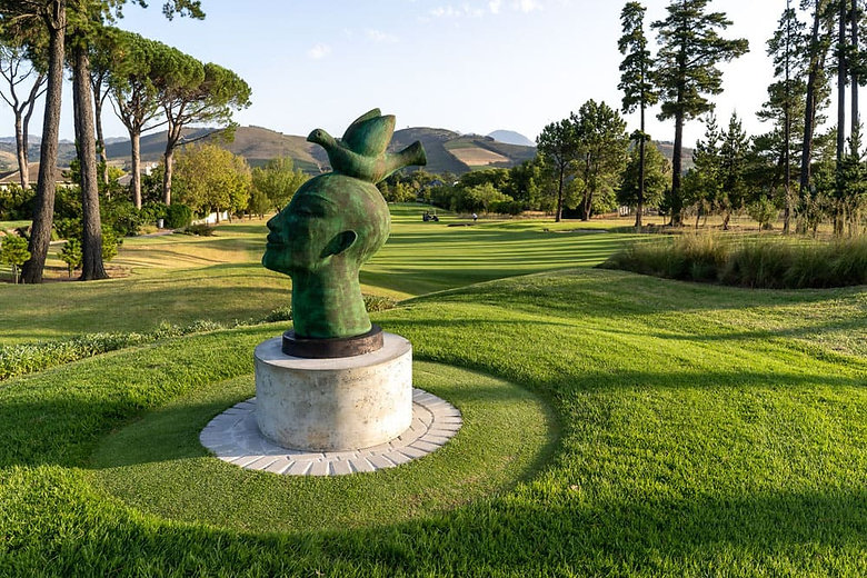 Sculpture on the Erinvale Golf Course.