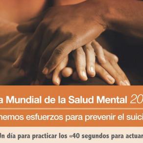 El Día Mundial de la Salud Mental 2019 se centrará en la prevención del suicidio
