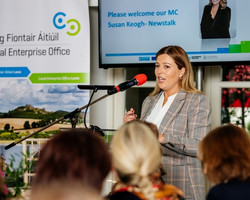 MC Susan Keogh - Newstalk at National Women's in Business event