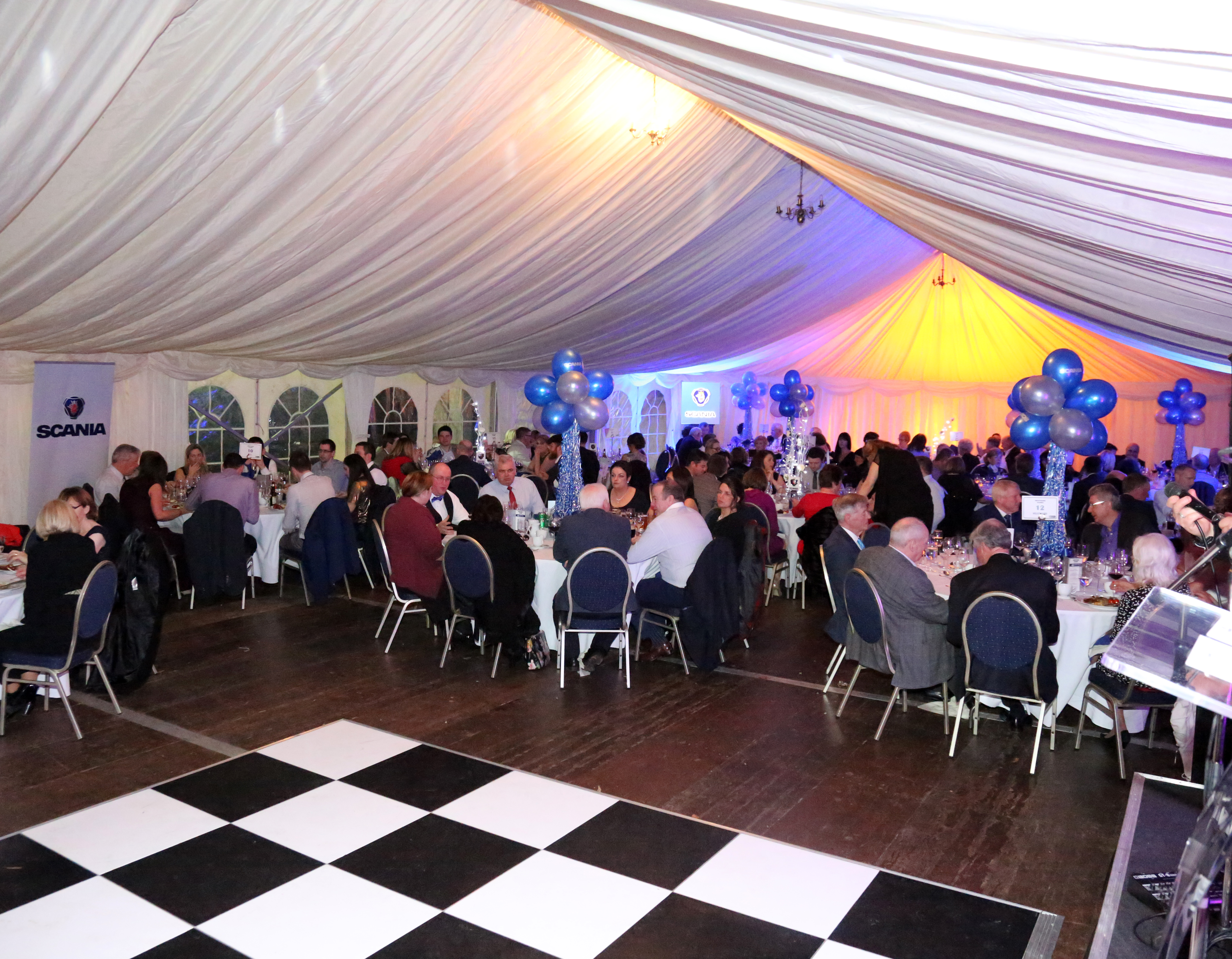 Private 40yr business celebration marquee