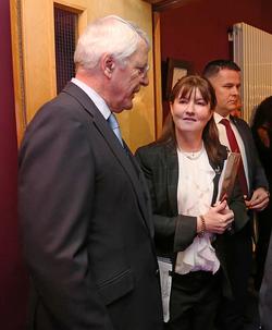 With Sir John Major at Inaugural Albert Reynolds Memorial Lecture