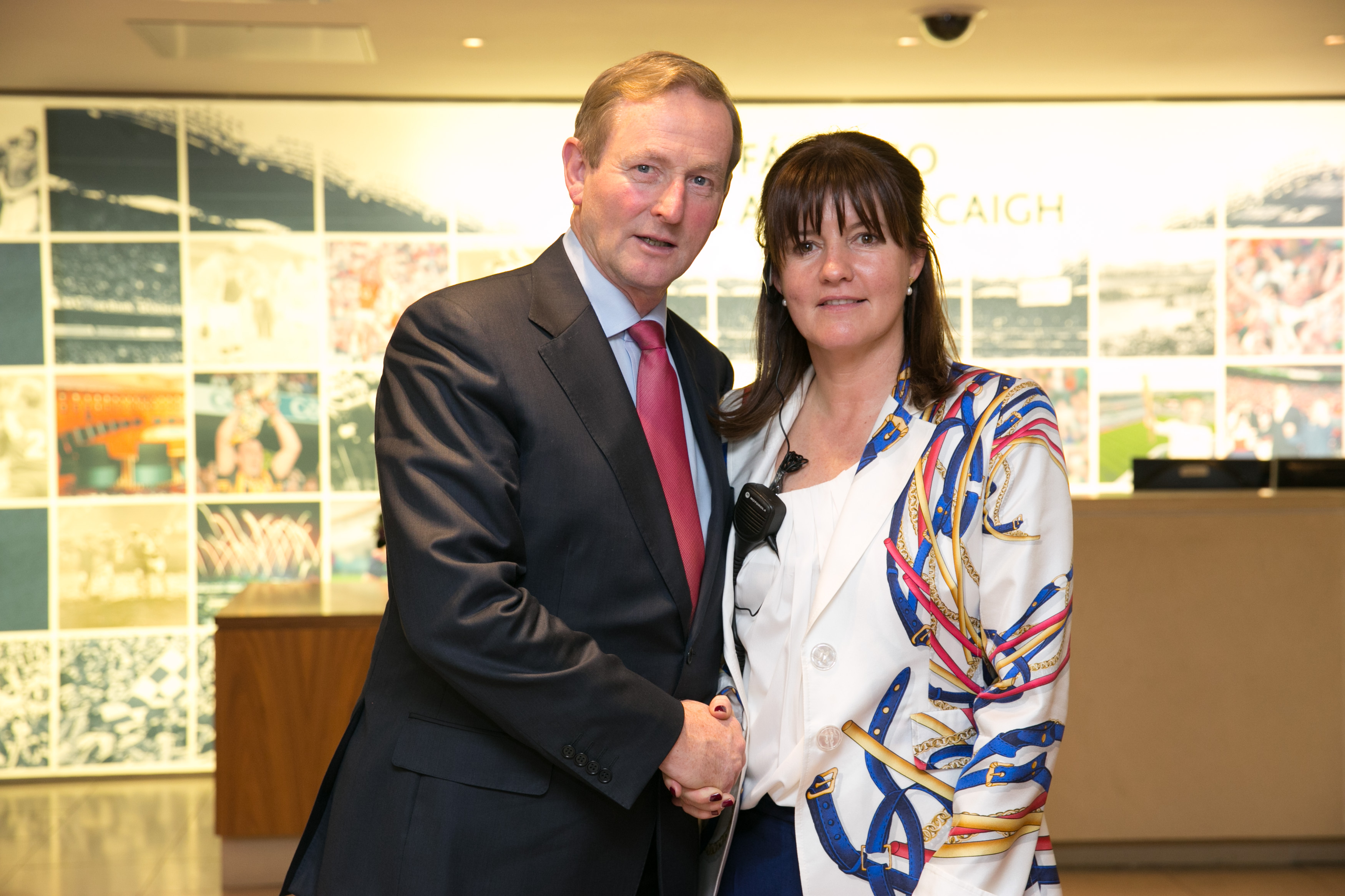 With Taoiseach of the day Enda Kenny in Croke Park