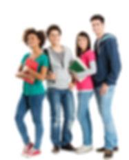 Happy Multi Ethnic Students Isolated On