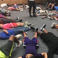 Gathering Kids Meditating Session- Sunmer Camp at Nolan Ryan