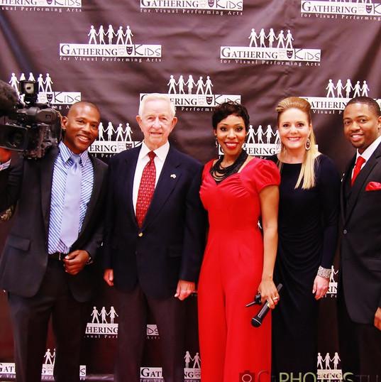 Gathering Kids Awards with Mayor Tom Reid and Christine Dobbyns with ABC 13