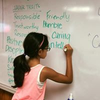 Gathering Kids Talk Leadership Traits at Camp